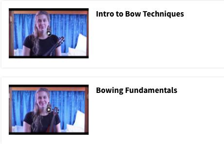 Bow Techniques